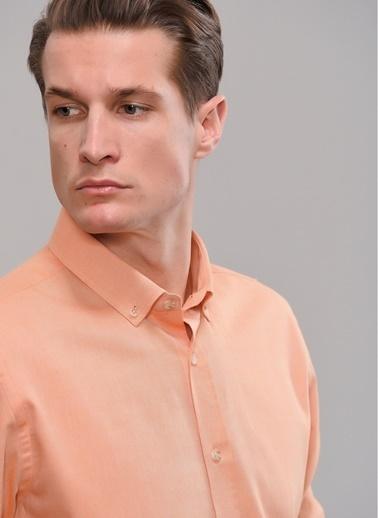 People By Fabrika Düğmeli Yaka Gömlek Oranj